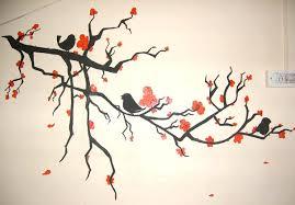 Iko Co Ke Tree Bird Wall Painting