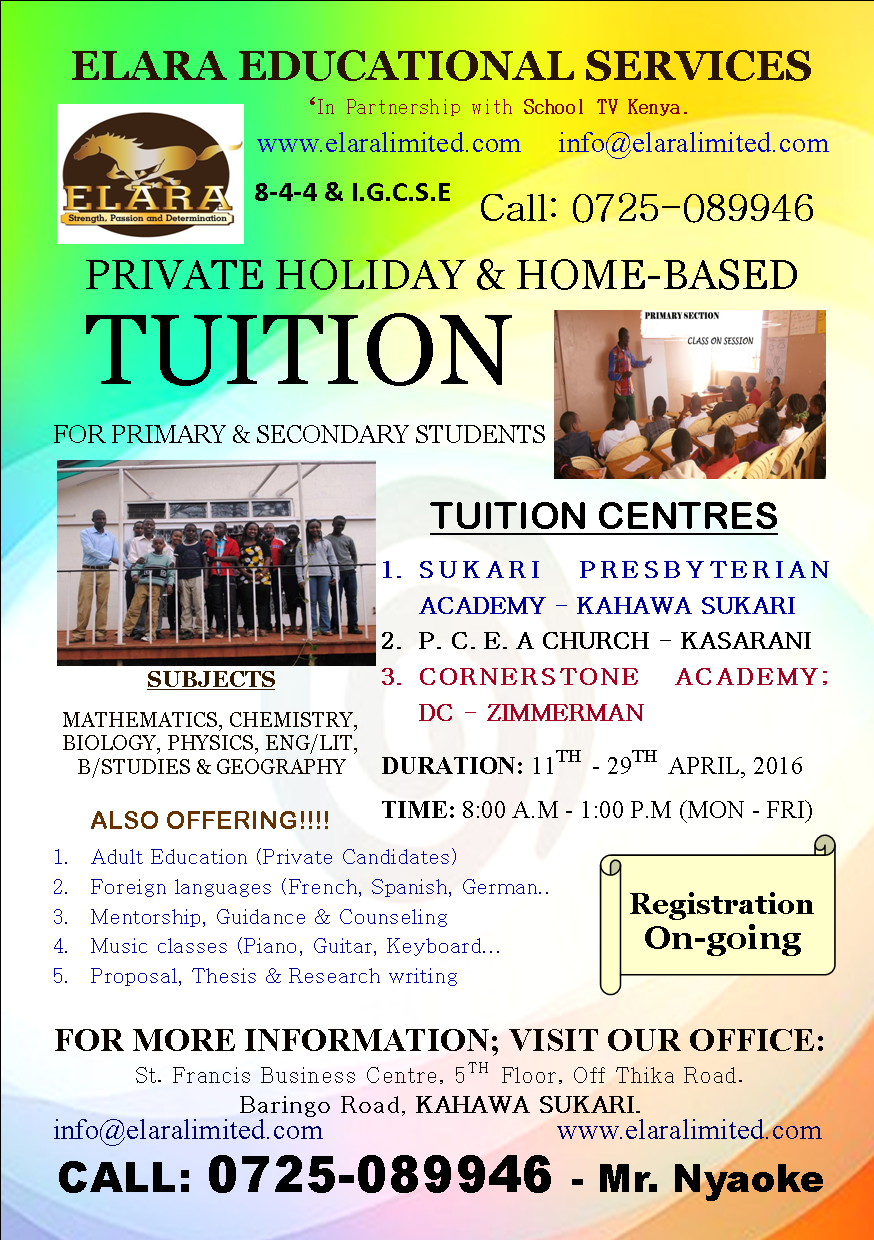 iko.co.ke - TUITION: PRIVATE HOLIDAY & HOME-BASED TUITION