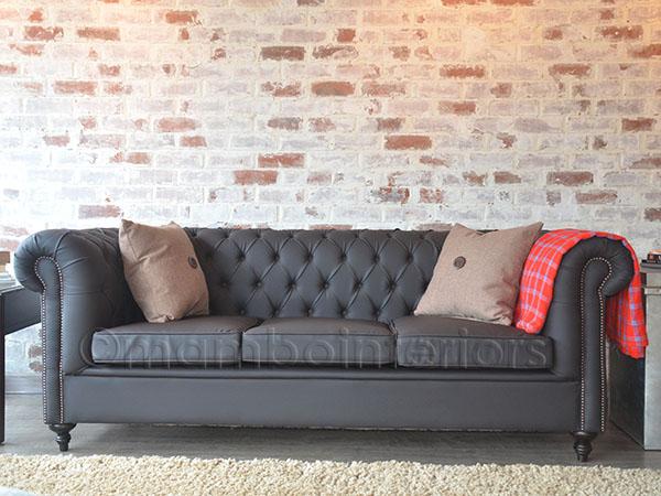 Iko Co Ke Leather Chesterfield Sofa