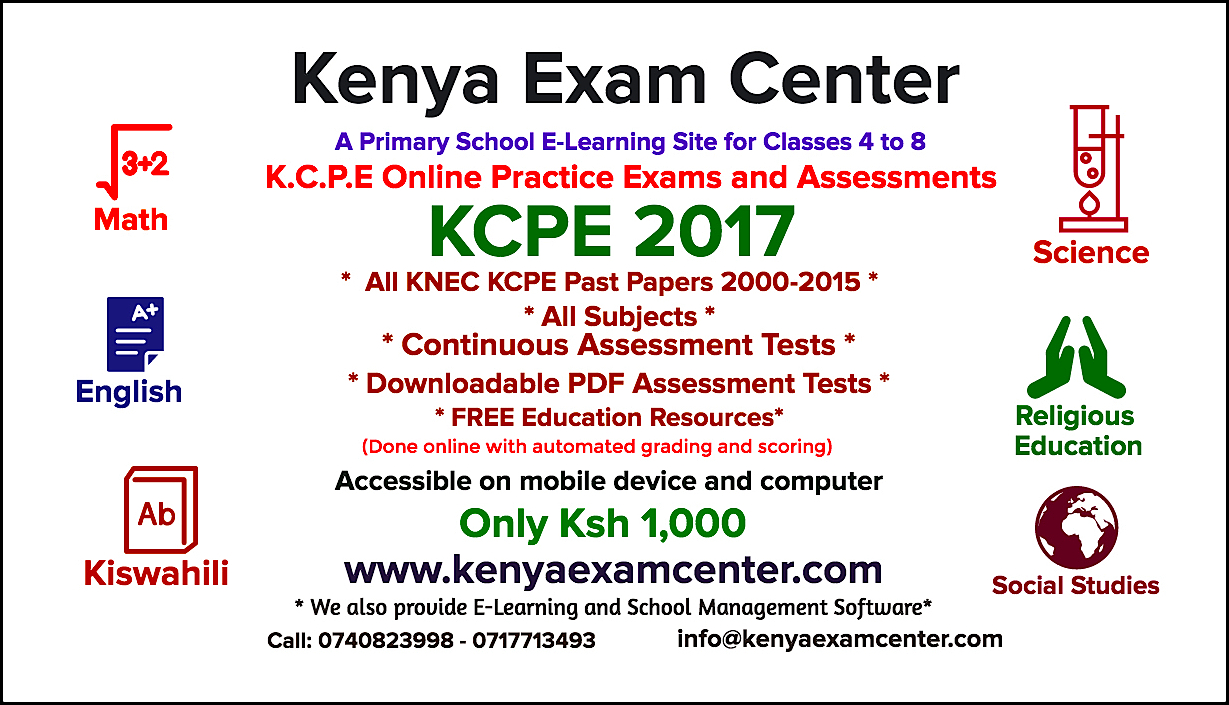 iko co ke - KCPE 2017 Online Practice Exams and Assessments